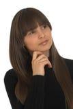 Portret van jonge aantrekkelijke vrouw Stock Afbeelding