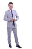 Portret van Jonge aantrekkelijke zakenman Stock Foto