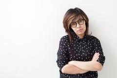 Portret van jonge Aziatische vrouw Royalty-vrije Stock Afbeeldingen