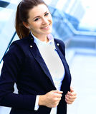 Portret van jonge bedrijfsvrouw Royalty-vrije Stock Afbeeldingen