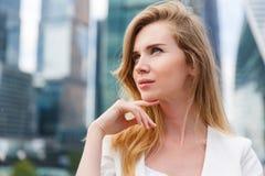 Portret van jonge bedrijfsvrouw Royalty-vrije Stock Foto