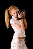 Portret van jonge blonde Stock Afbeelding