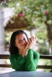 Portret van jonge brunette Stock Foto's