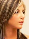 Portret van jonge dame. Royalty-vrije Stock Afbeelding