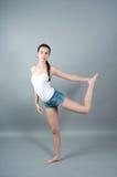 Portret van jonge danser Stock Afbeeldingen