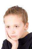 Portret van jonge droevige jongen Royalty-vrije Stock Afbeelding