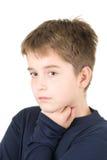 Portret van jonge droevige jongen Stock Foto