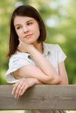 Portret van jonge droevige vrouw Stock Afbeelding