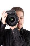 Portret van jonge fotograaf Royalty-vrije Stock Foto