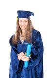 Portret van jonge gediplomeerdestudent Royalty-vrije Stock Afbeelding