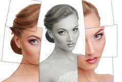 Portret van jonge, gezonde en mooie vrouwenplastische chirurgie, stock foto's