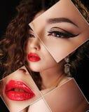 Portret van jonge, gezonde en mooie vrouwenplastische chirurgie, royalty-vrije stock foto's
