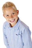 Portret van jonge glimlachende jongen stock afbeeldingen