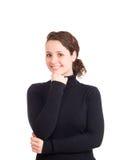 Portret van jonge glimlachende mooie vrouw Royalty-vrije Stock Foto's
