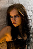 Portret van jonge goth stock afbeeldingen