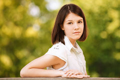 Portret van jonge grote vrouw Royalty-vrije Stock Afbeelding