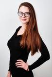 Portret van jonge het glimlachen brunette Royalty-vrije Stock Afbeelding