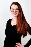 Portret van jonge het glimlachen brunette Royalty-vrije Stock Afbeeldingen