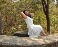 Portret van jonge Indische vrouwen royalty-vrije stock afbeeldingen