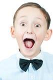 Portret van jonge jongen. Stock Foto