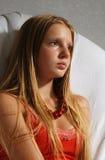 Portret van jonge langharig Stock Afbeeldingen