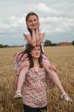 Portret van jonge meisjes Stock Afbeeldingen