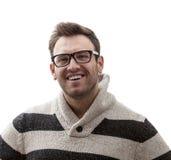 Portret van jonge mens het glimlachen Royalty-vrije Stock Afbeeldingen