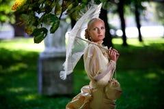 Portret van jonge mooie bruid Stock Foto