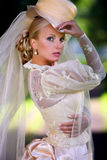 Portret van jonge mooie bruid Stock Afbeeldingen