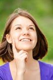 Portret van jonge mooie donkerbruine vrouw Stock Afbeeldingen
