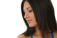 Portret van jonge, mooie, het charmeren brunette Royalty-vrije Stock Foto