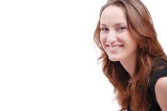 Portret van jonge mooie vrouw Stock Afbeelding