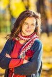 Portret van Jonge Mooie Vrouw Stock Foto