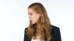 Portret van Jonge Onderneemster Looking aan Kant stock afbeeldingen