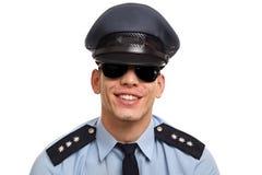 Portret van jonge politieagent Stock Afbeelding