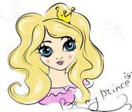 Portret van Jonge Prinses met Krullend Haar Stock Foto's