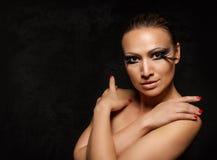 Portret van jonge schoonheidsvrouw Stock Fotografie