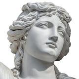 Portret van jonge sensuele die Roman Renaissance Era-vrouw in Wenen, Oostenrijk, bij witte achtergrond wordt geïsoleerd royalty-vrije stock foto's