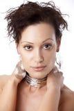 Portret van jonge sexy vrouw Stock Foto's