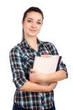 Portret van jonge student stock foto's