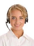 Portret van jonge telefoonexploitant Stock Afbeelding