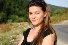 Portret van jonge volwassen vrouw Stock Foto