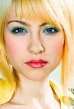 Portret van jonge vrouw Royalty-vrije Stock Afbeeldingen