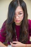 Portret van jonge vrouw Royalty-vrije Stock Foto