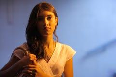 Portret van jonge vrouw. stock afbeeldingen