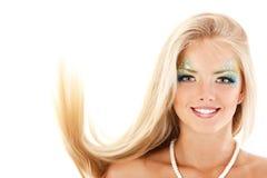 Portret van jonge vrouw van de meermin de mooie magische mythologie met l royalty-vrije stock foto's