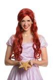 Portret van Jonge Vrouw Gekleed in Prinsenkostuum Stock Foto's