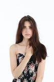 Portret van jonge vrouw in korset Stock Fotografie