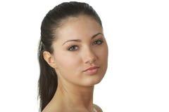 Portret van jonge vrouw met gezondheidshuid van gezicht Royalty-vrije Stock Afbeeldingen
