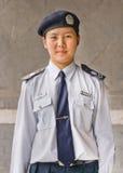 Portret van jonge vrouwelijke politieman, Peking, China Royalty-vrije Stock Fotografie